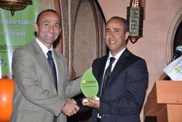من اليسار الأستاذ/ نيكولاس ليندمن - المدير التنفيذي لتريدكورب العالمية- والأستاذ/ رضى ايت بوفتاس-المدير العام لشركة بروماكري -